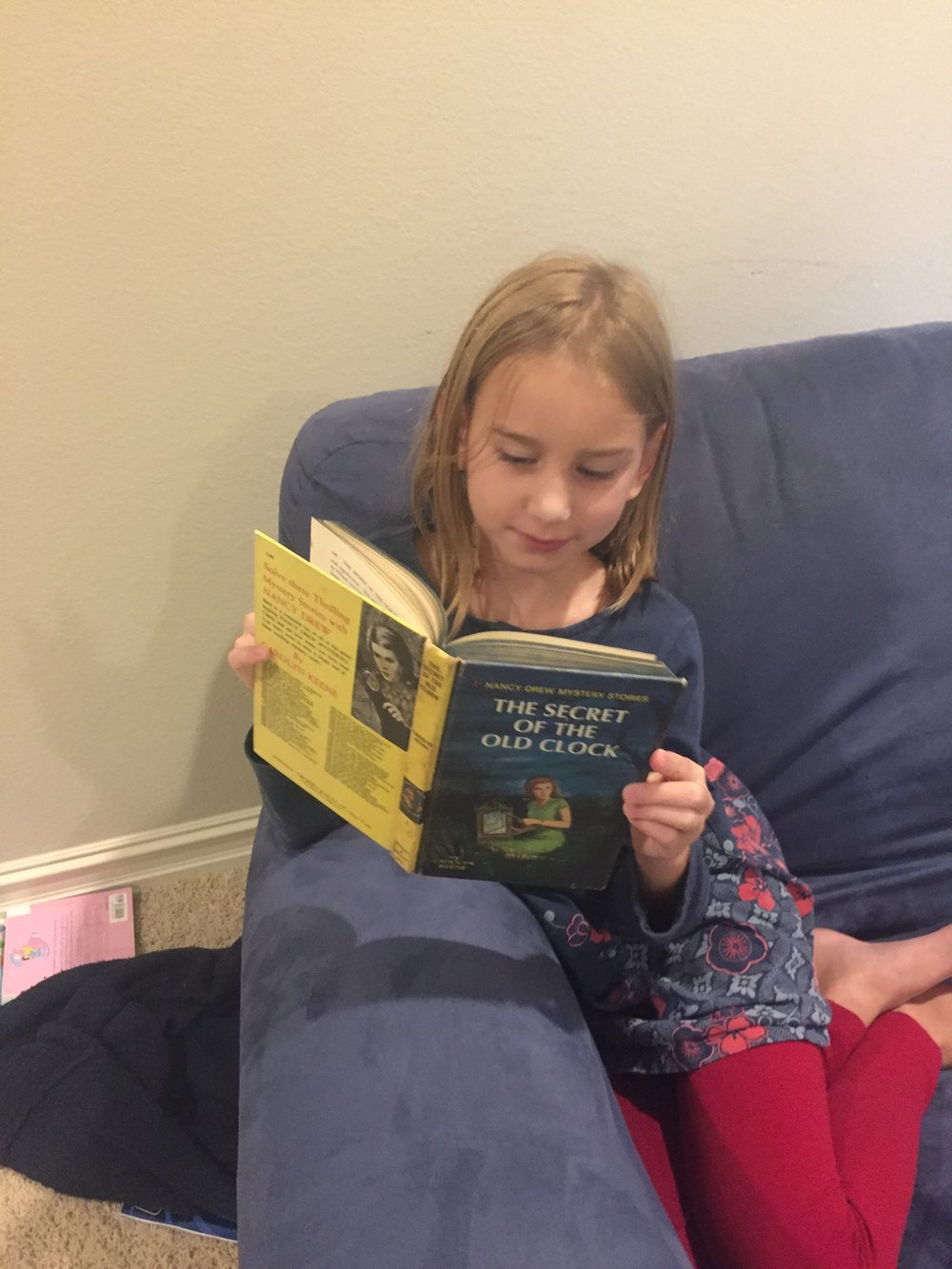 September 2017 She is still a reader! She discovered my Nancy Drew and read a dozen of them =)
