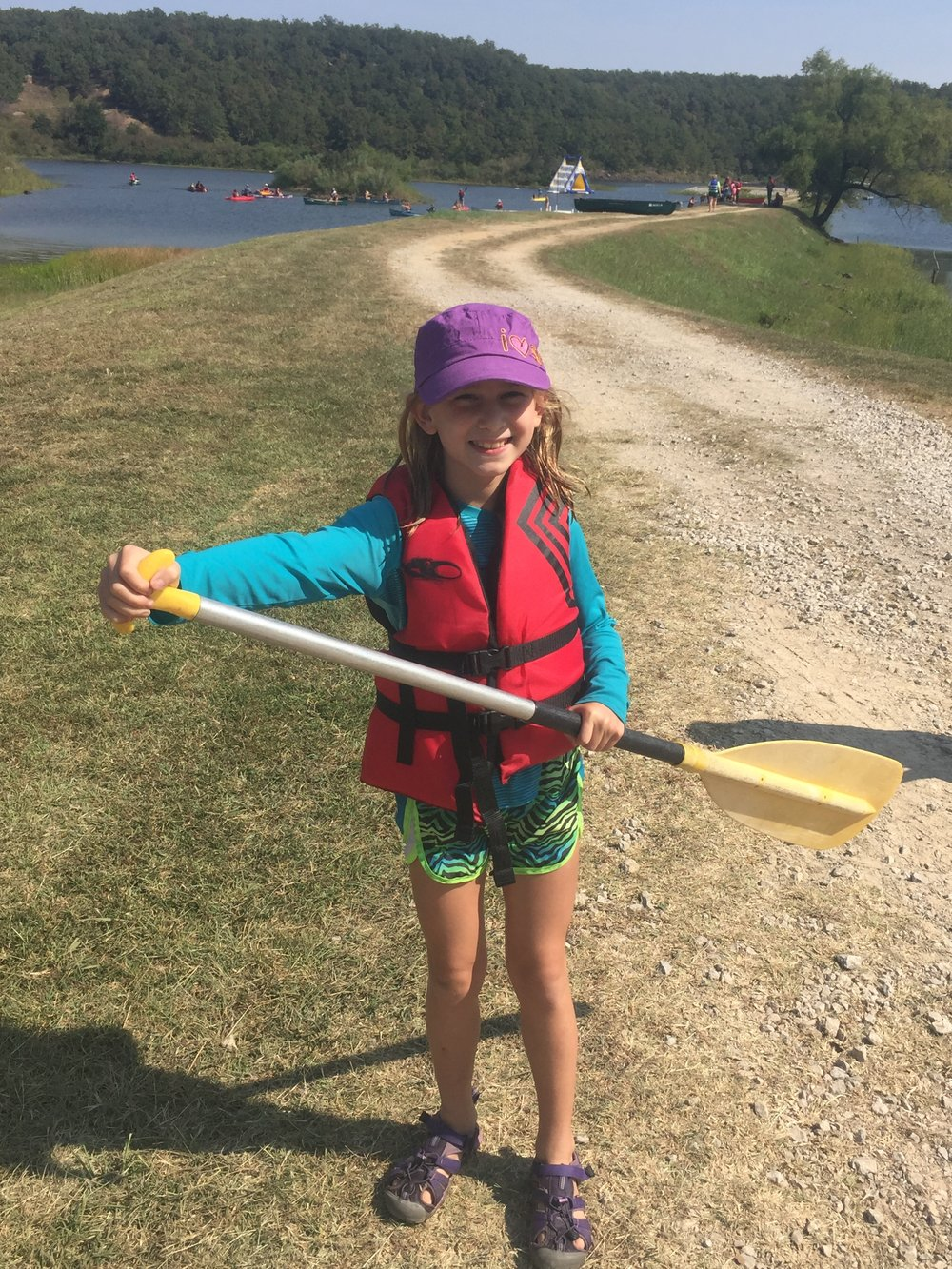 We get to do lots of fun outdoor stuff with Girl Scouts! Canoe Rendezvous
