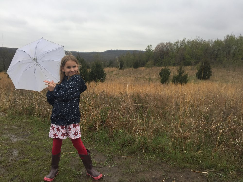 April 2018 Serenity loves hiking at the botanical gardens!