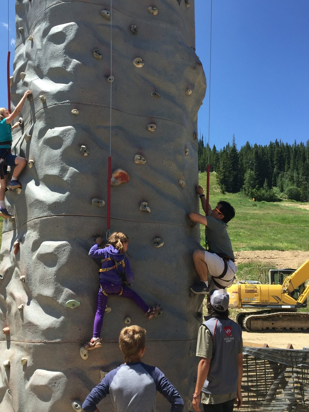 Rock Wall with Uncle Jack =)
