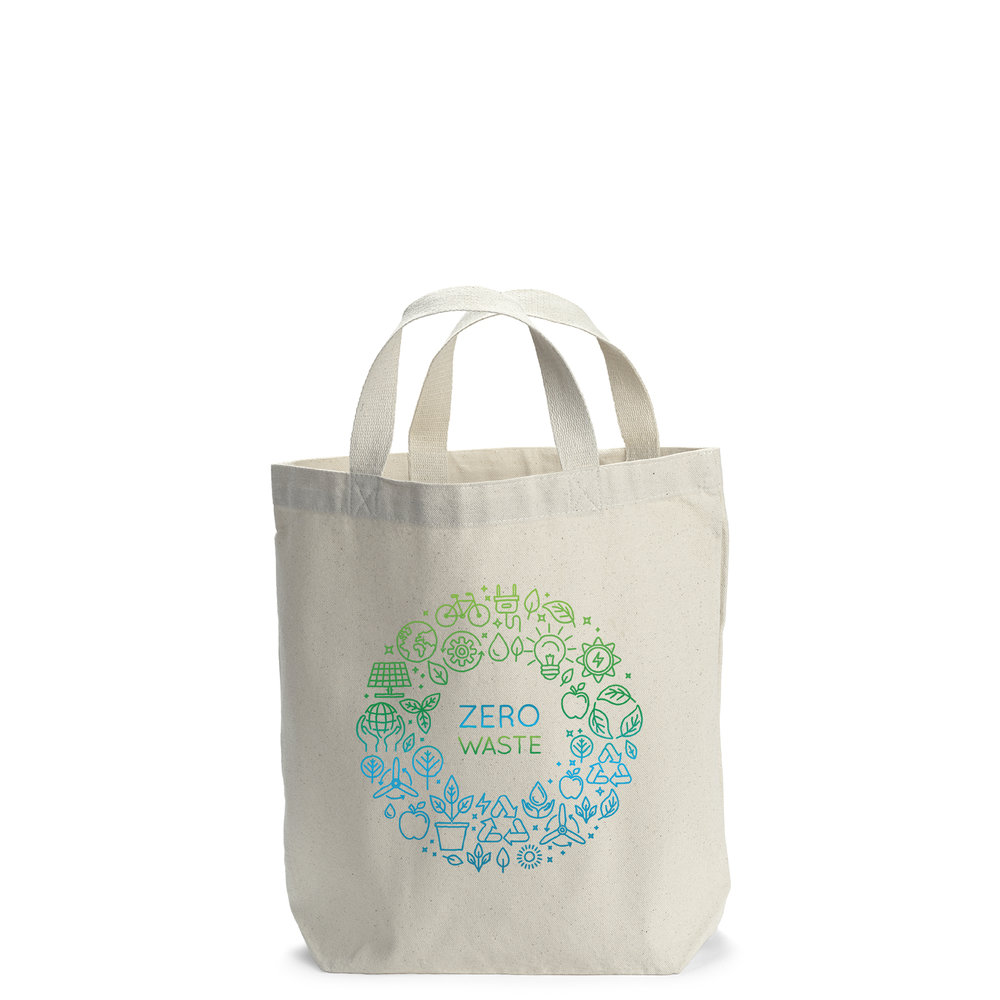 Calico Bag with Heat Transfer