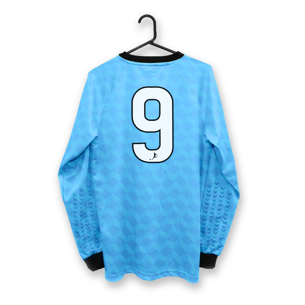 Blue Soccer Jersey with Sports Number Heat Transfer Print