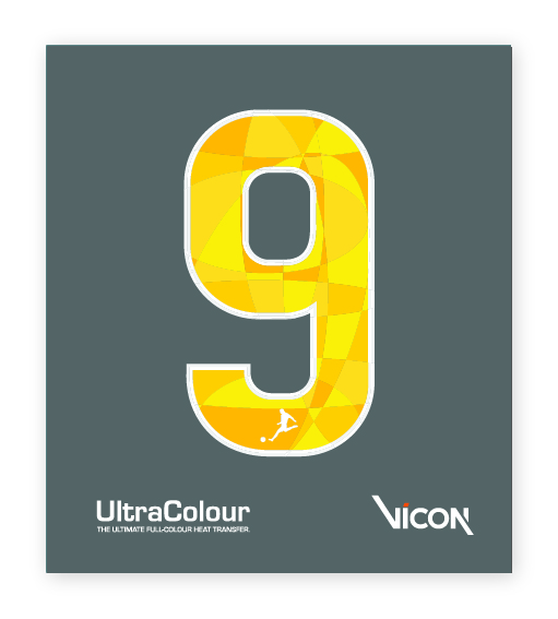UltraColour Soccer Number Sample Heat Transfer