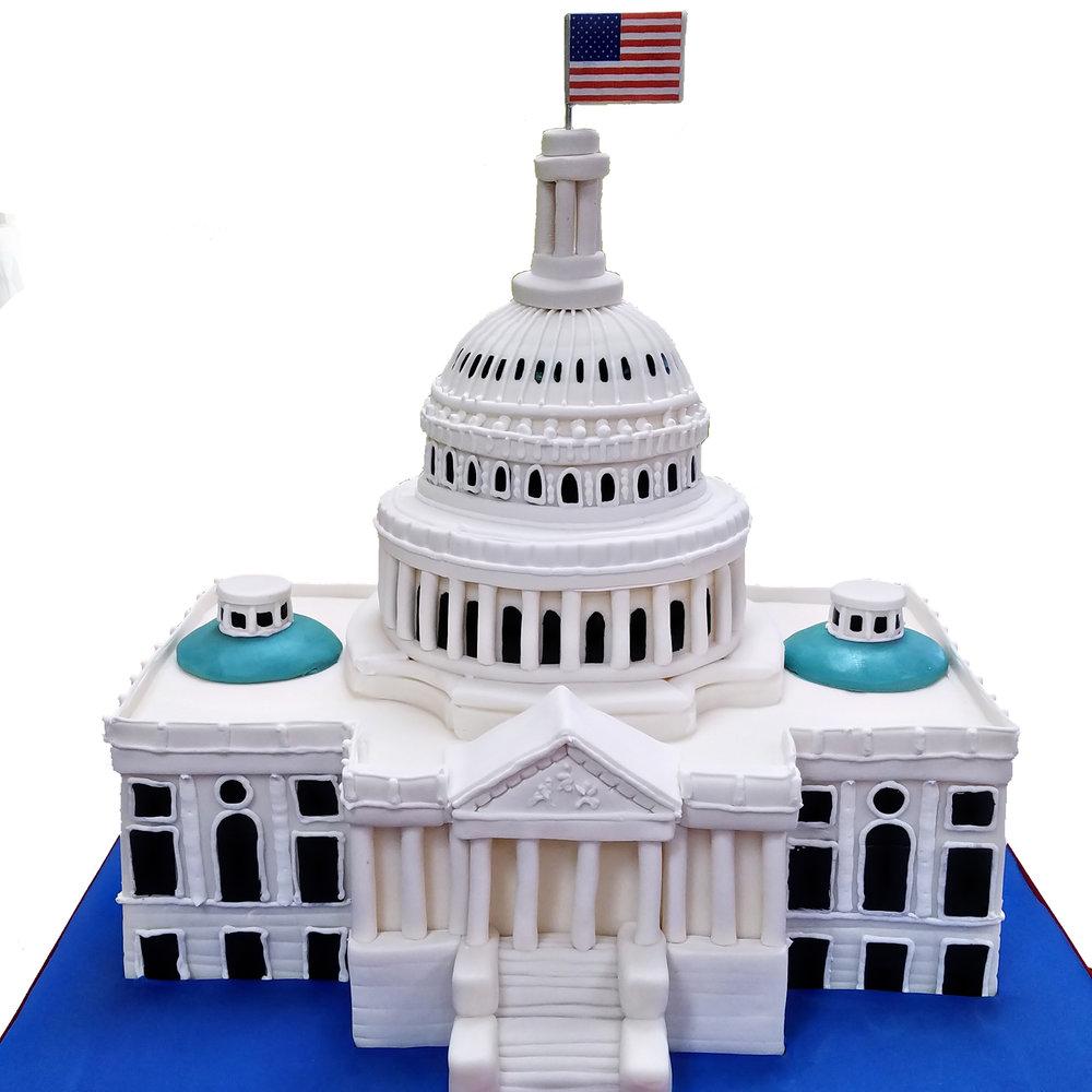 U.S. Capitol Building Cake