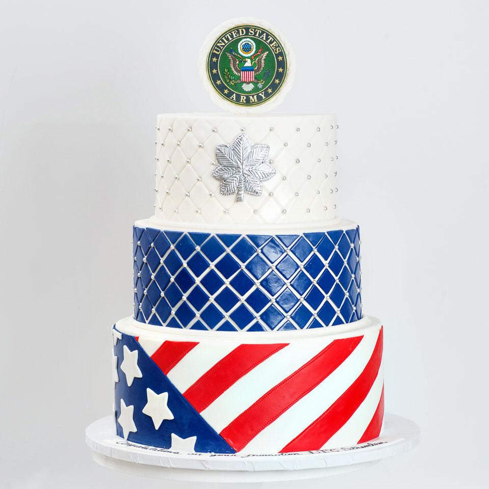 Military Promotion Cake