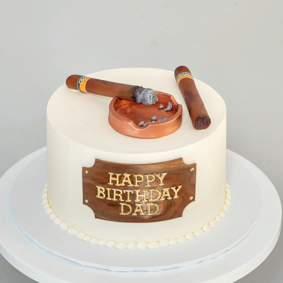 cigar birthday cake
