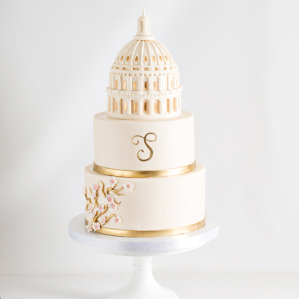 DAR Constitution Hall Washington DC wedding Cake