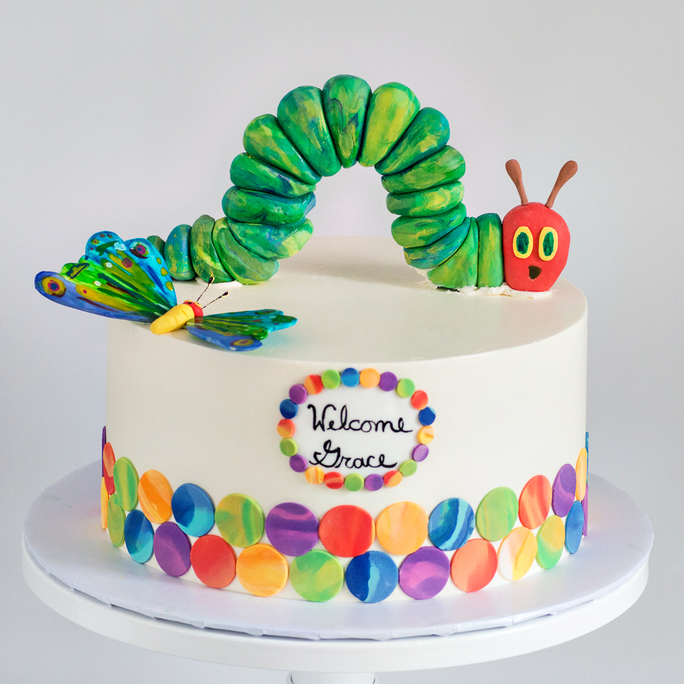 Hungry Hungry Caterpillar Baby shower cake