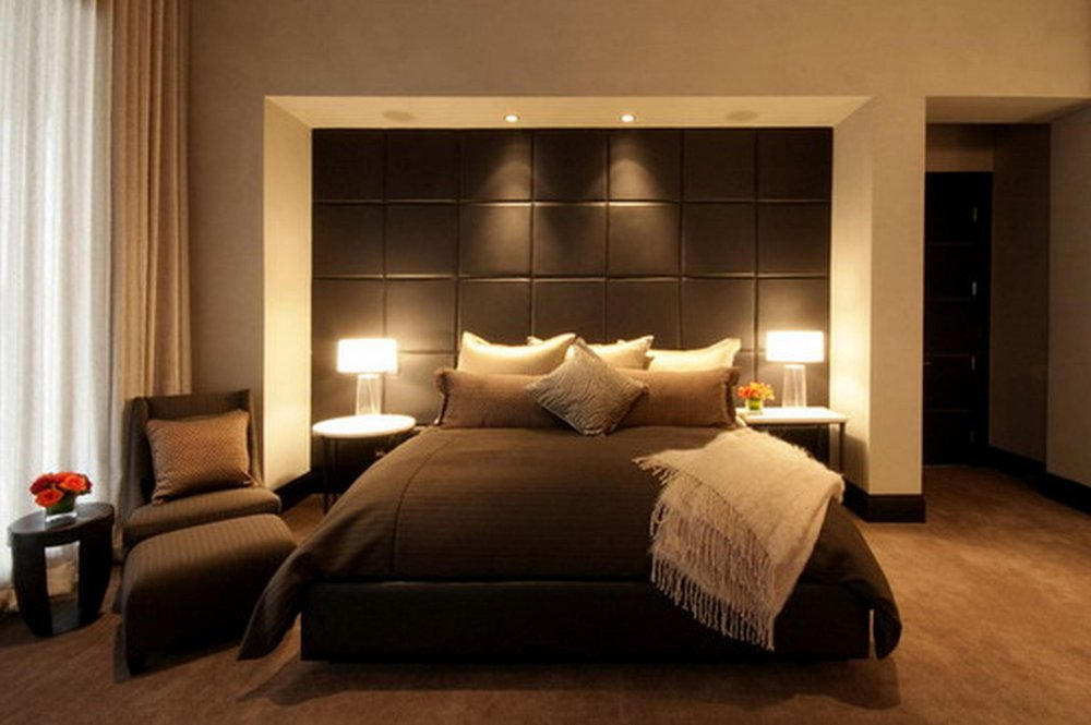 Queen Bed with a large headboard