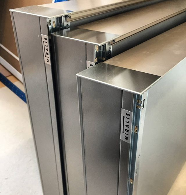 It's delivery day at my #projectwellesley .  The clients are going to love these #stainless #drawers from @cuisinesmiralis .  @binnsdesign  #modernkitchen #cooldesign #cantwait #awesome