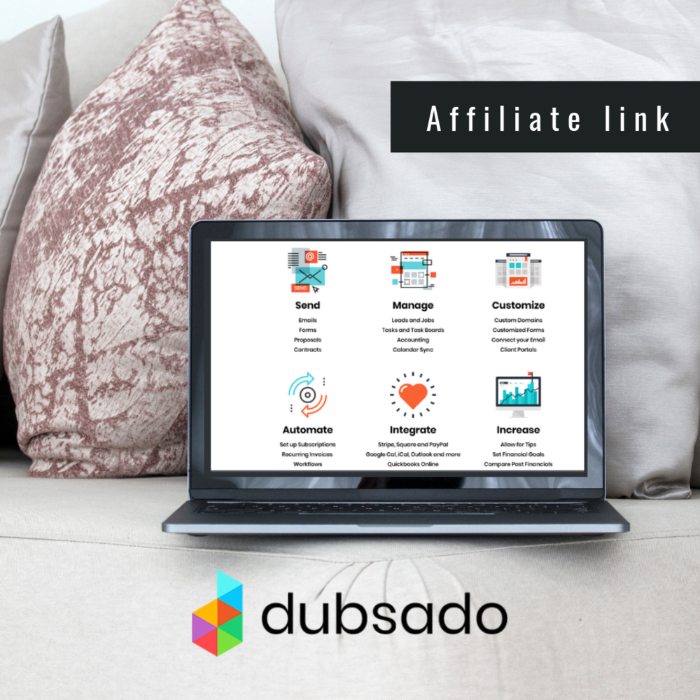 ''From invoicing, signing contracts, scheduling appointments,  Dubsado  is a software built to save you time, impress clients, and grow your business.''