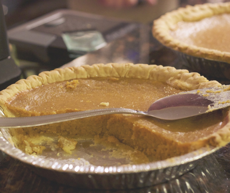 Ingredients : 1 sugar pumpkin; 1 pie crust of choice; 2 eggs(I prefer vital farms brand); I cup packed light brown sugar; 1 tablespoon flour of choice(could substitute non wheat flour here); 16 ounces of coconut cream; 2 tsp cinnamon; 1 tsp ginger; 1/4 tsp nutmeg; 1/4 tsp ground cloves; 1/4 tsp cardamon   Directions : Cut pumpkin in half, remove seeds, place face down on plate and microwave for 10 minutes. Scrape pumpkin flesh out and mash or puree with an immersion blender or blender.  Preheat oven to 450 degrees  In large bowl slightly beat eggs, add brown sugar, flour, salt and the pumpkin puree, spices, and the coconut cream and stir well.  Pour mixture in the pie shell. Bake 10 minutes at 450 degrees. Then reduce temperature to 350 degrees and cook an additional 40-50 minutes until toothpick inserted in middle comes clean. Cool and refrigerate overnight.