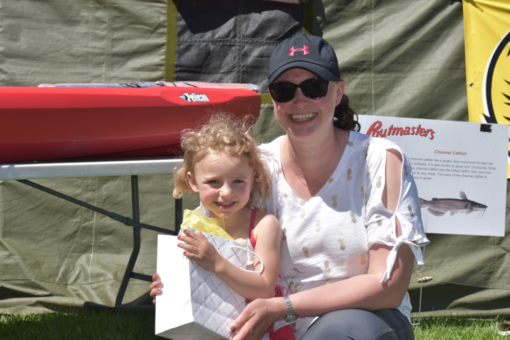 Brooke Laplante poses with her mother after winning the $500 Stella's Touch Day at the Spa (On Mother's Day) at the 2018 Poutmasters fishing Derby.