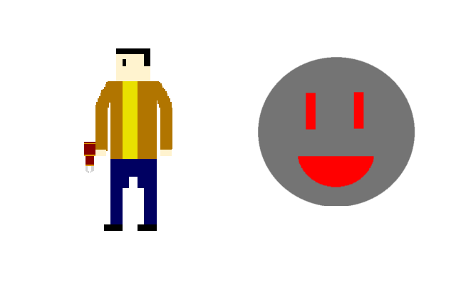 Left: The Pyro Enemy. Right: The Obssessor