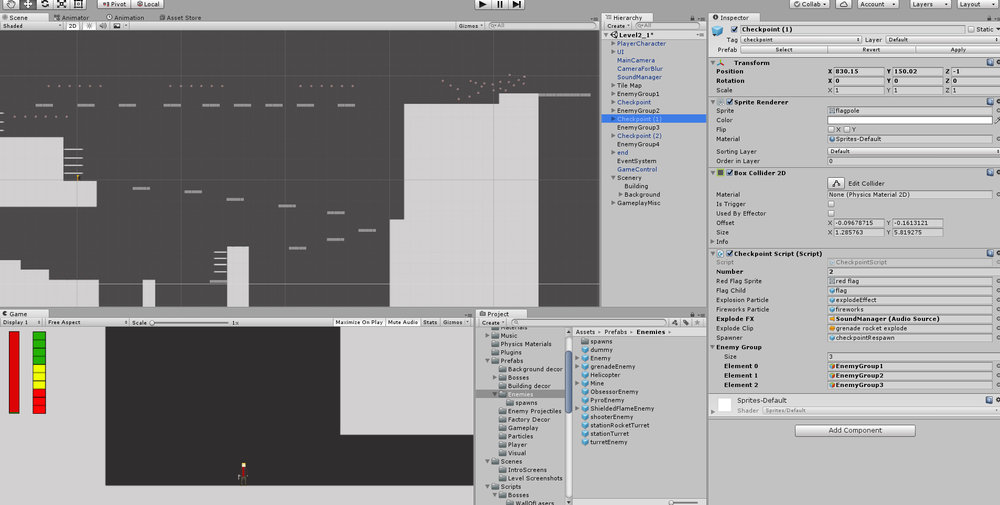 A very early look at Level 2_1 from within the Unity Editor. And yes, all those little floating dots are Obsessors.