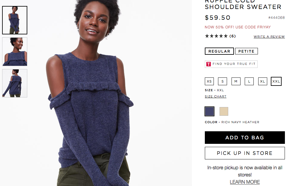 "I suppose it goes without saying that I also hate the ""cold shoulder"" trend. I hate that it's called ""cold shoulder"", I want to poke everyone's weirdly bare shoulders, and also why the FUCK would you do this to a sweater, which is (ostensibly) supposed to keep you warm? I MEAN REALLY."