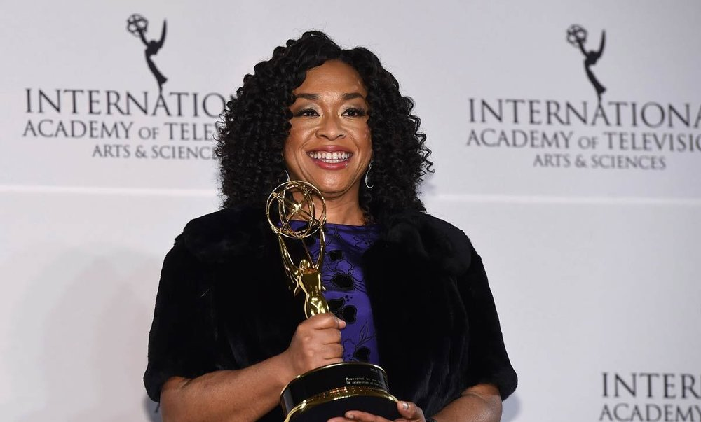 Shonda Rhimes - First woman to create three hit shows with more than 100 episodes each. She is the creator of Grey's Anatomy, Private Practice, and Scandal, and is an executive Producer for How to Get Away with Murder
