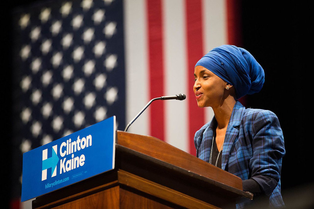 Ilhan Omar - the first Somali-American Muslim legislator elected to office in the United States.