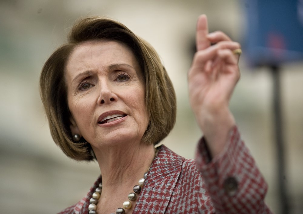 Nancy Pelosi - The first woman to lead a majority party in congress