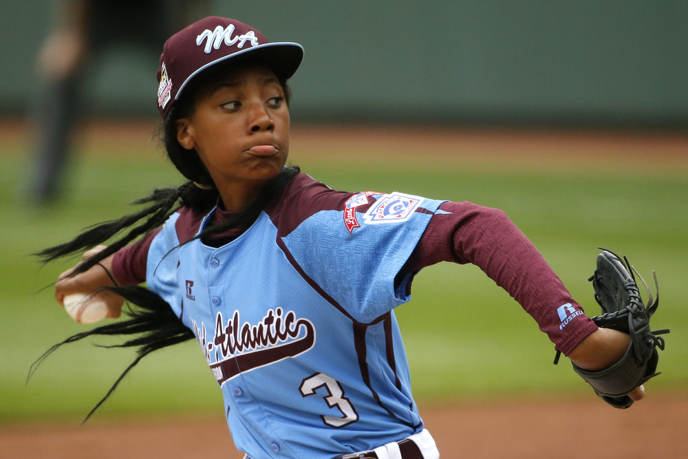 Mo'ne Davis - First girl to pitch a shutout in the Little League World Series