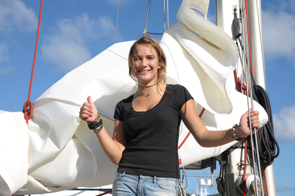 Laura Dekker - Youngest person to solo circumnavigate the globe on a sailboat