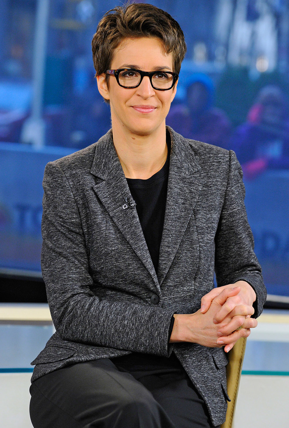 Rachel Maddow - First openly gay anchor on a primetime news show