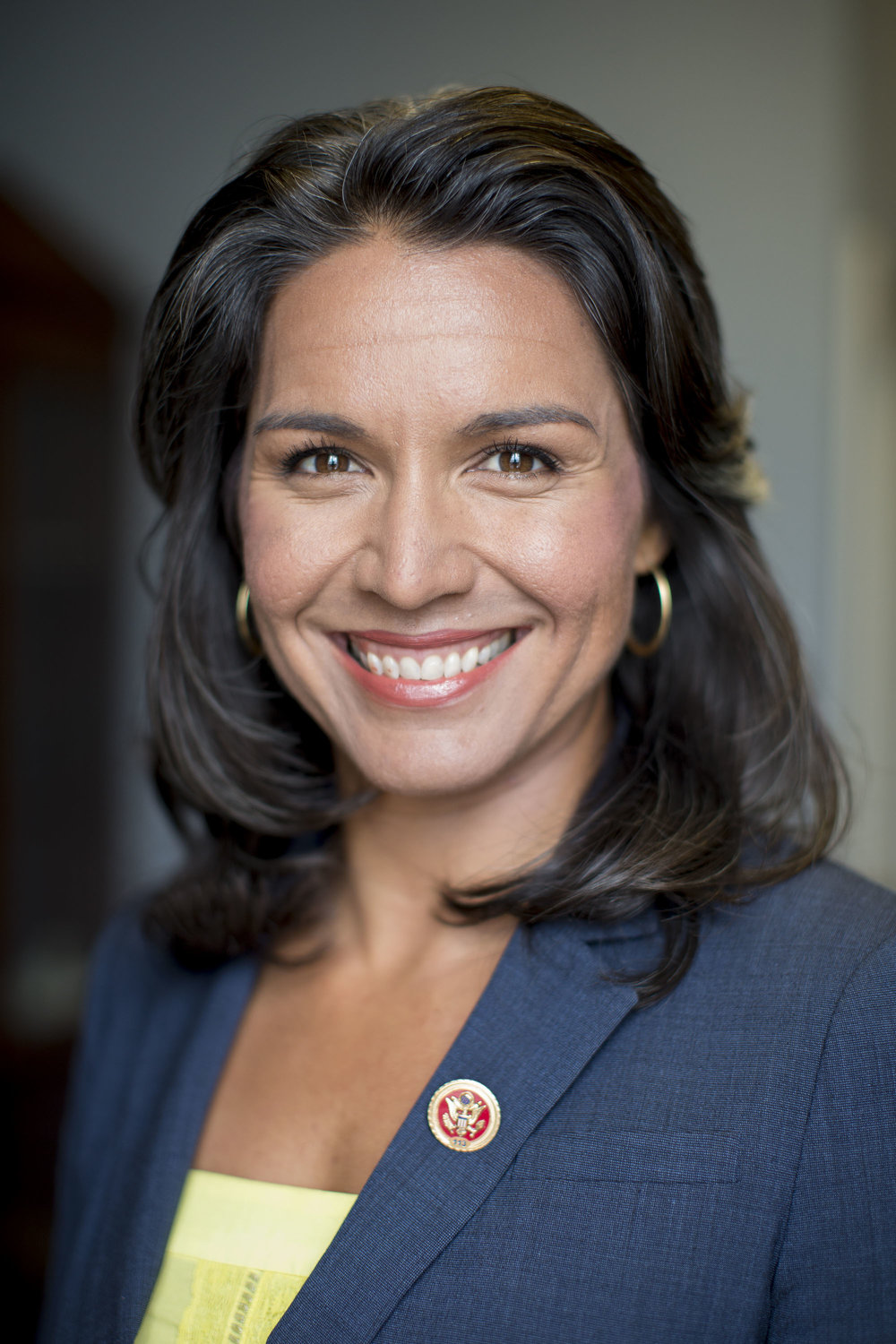 Tulsi Gabbard - First American Samoan and first Hindu elected to congress. Watch out for a run for president in 2020.