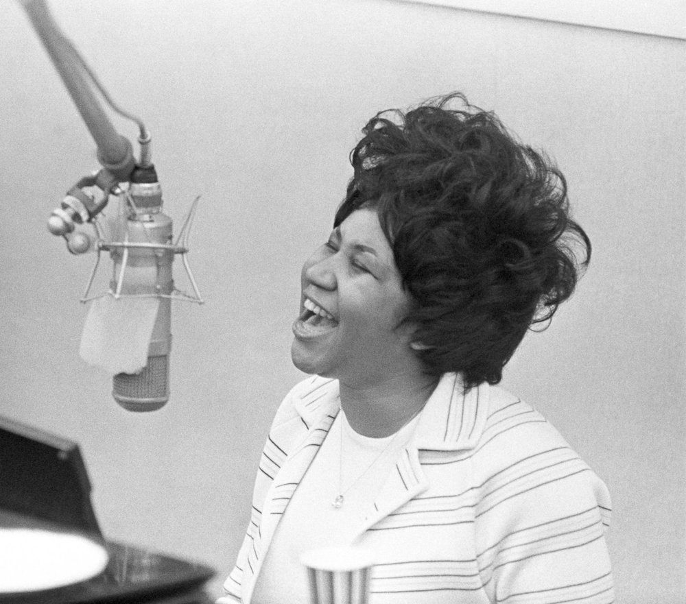 Aretha Franklin - First woman inducted into the Rock and Roll Hall of Fame