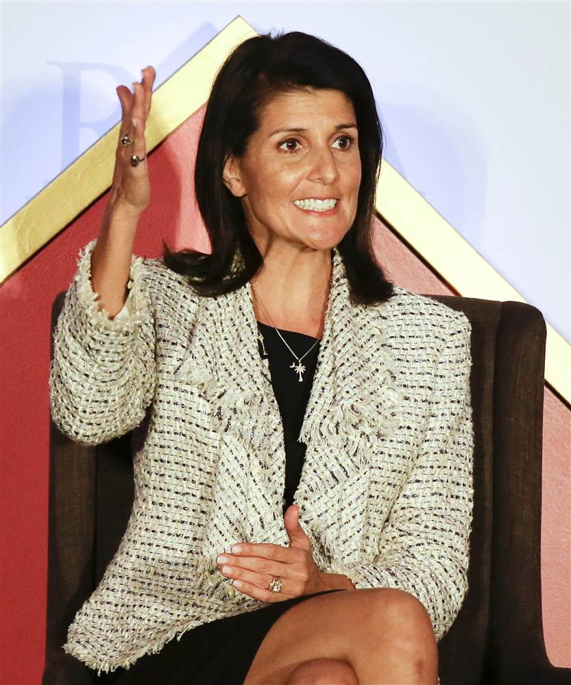 Nikki Haley - First female governor of South Carolina, first Sikh governor in the U.S., first female Indian American to be elected governor in the U.S.