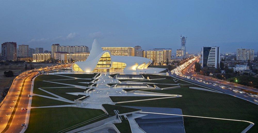 Heydar Aliyev Cultural Centre in Baku, Azerbaijan, 2012—Photo by Hufton + Crow via ArchDaily