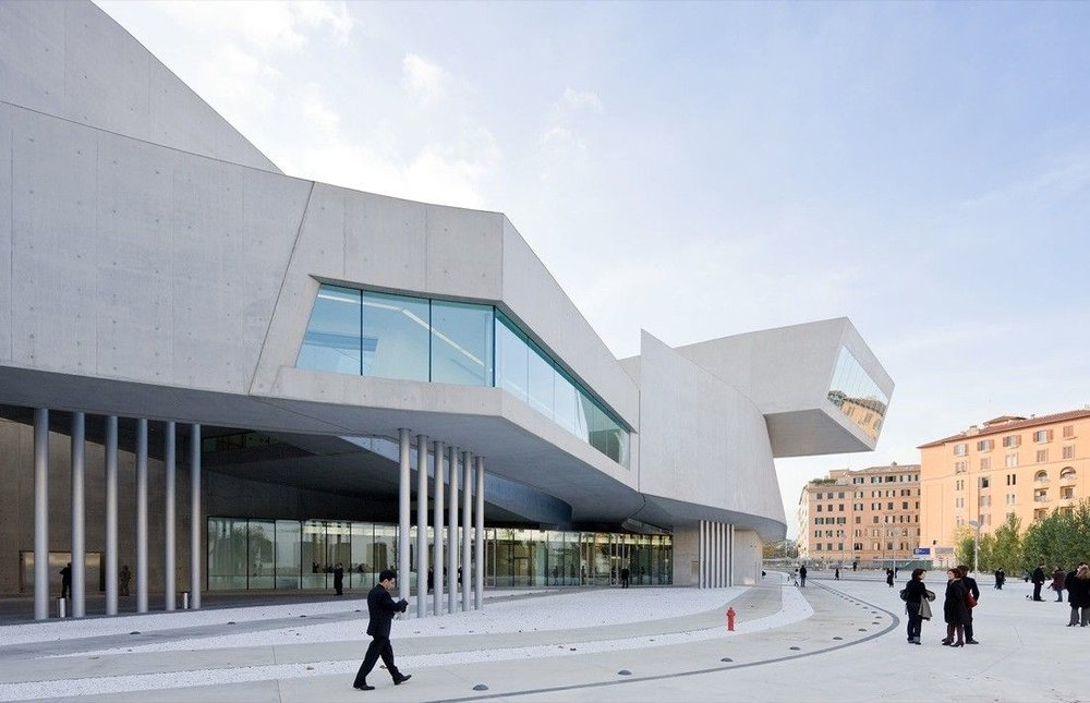 MAXXI National Museum of the 21st Century Arts in Rome, Italy, 2010 Photo by Iwan Baan via ArchDaily