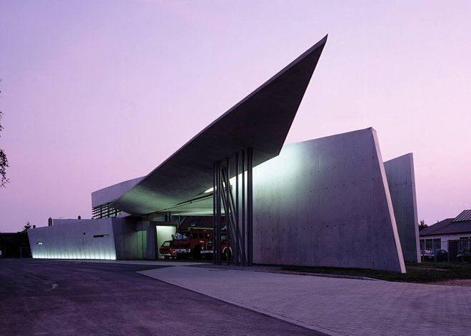 Vitra Fire Station in Weil am Rhein, Germany 1993, Photo by Christian Richter, Courtesy of Curbed