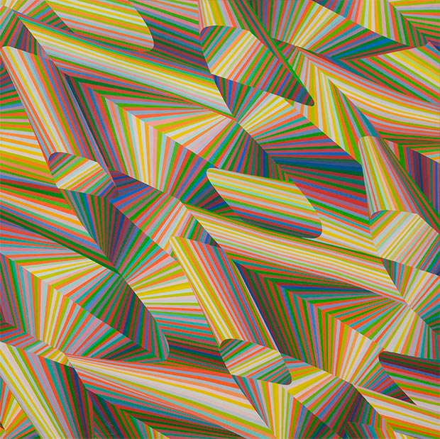 Samia Halaby / Rainbow Spirals