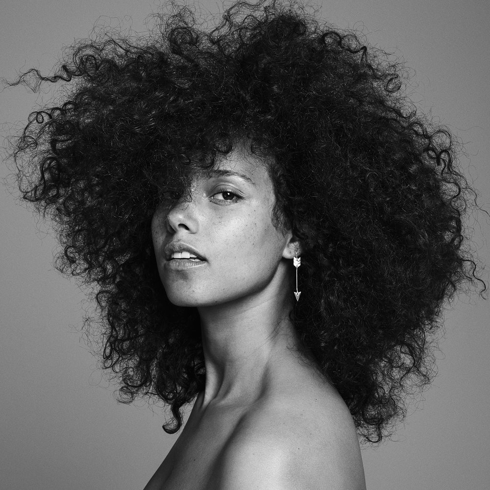 Alicia Keys - The first artist to replace herself at number one on the Billboard Hot 100