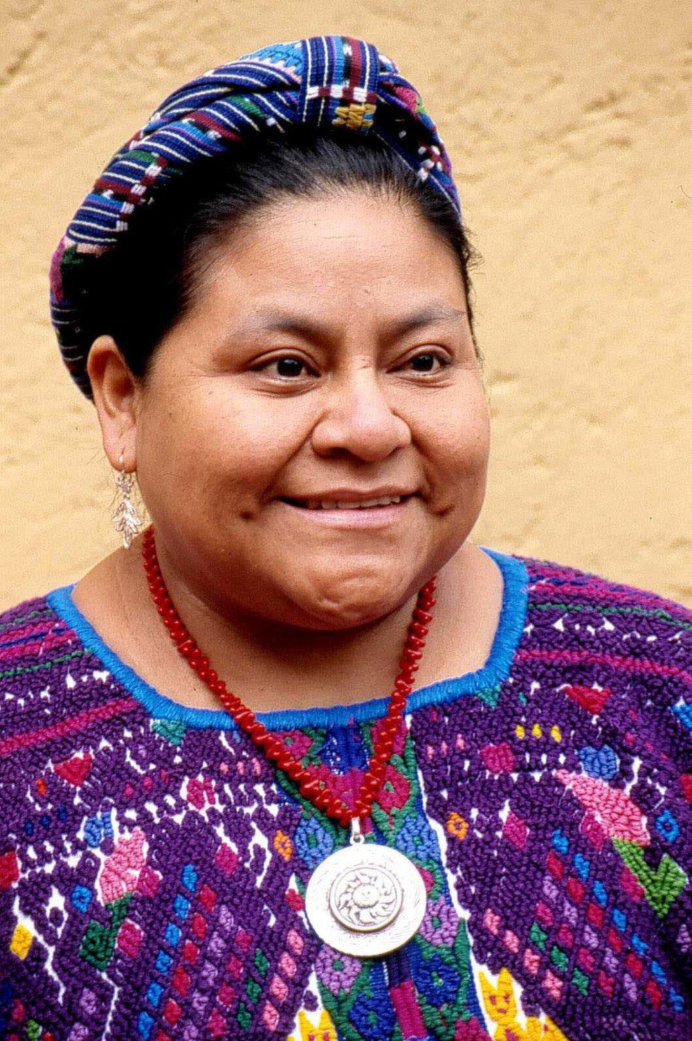 Rigoberta Menchú - Guatemalan indigenous rights and women's rights activist, Nobel Peace Prize recipient