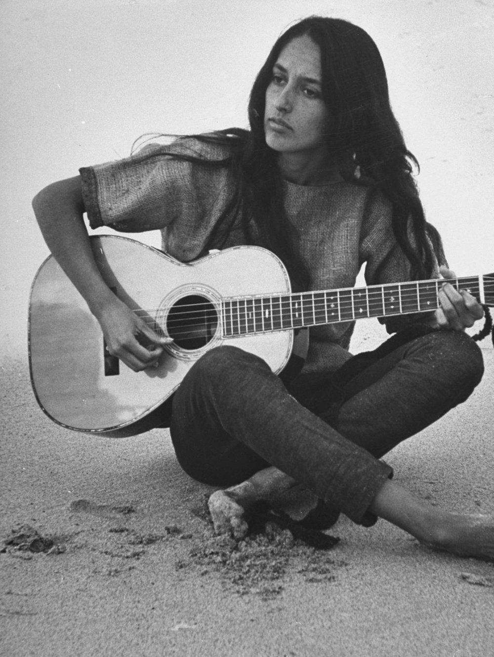Joan Baez - Award winning folk singer, songwriter, musician, and activist