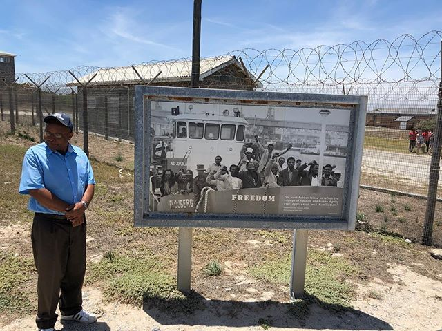 """""""You see that young man in the hat, that was me the day I left this prison, but this prison never left me. """" #southafrica #history"""