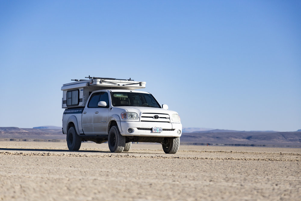 Toyota Tundra with Four Wheel Camper