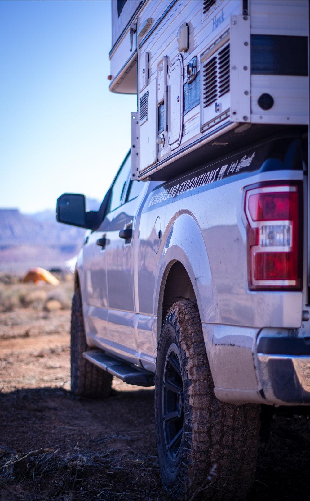 4x4 Truck Camper Rental