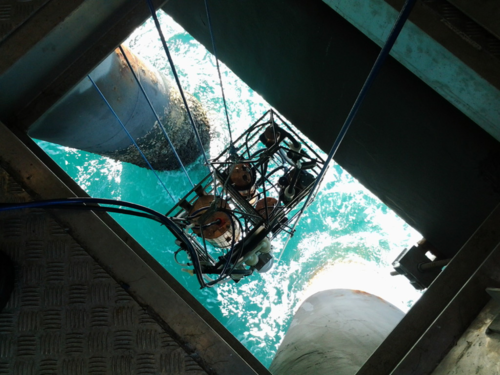 Instrumentation at Lucinda Jetty coastal observatory.  Image supplied by thomas schroeder, CSIRO