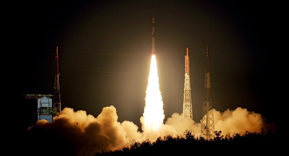 PSLV C42 launch of NovaSAR-1 and SSTL S1-4, 16 September 2018. Credit ISRO/Antrix