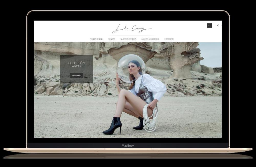LolaCruz - Lola Cruz es un proyecto activo cuyo éxito se ha traducido en un ROI anual del 300%. En esta compañía gestionamos publicidad digital ( FB ads, Google Adwords), comunicación en redes sociales ( Facebook e Instagram) y fidelización a través de remarketing y mailmarketing.El e-commerce diseñado y desarrollado por 2beDigital es una plataforma web B2C/B2B desarrollada en Spreecommerce ( Ruby on Rails ) que fue nominada a los premios Awwwards en el 2017.