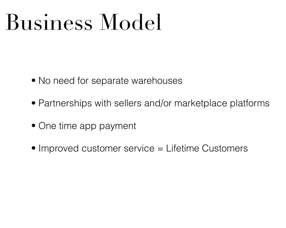 - Highlights of potential business model. How CATCH app would fare better than competitors.
