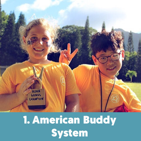 We match 1 international camper with 1 local camper, an important ratio for a meaningful cultural exchange and the best way to practice speaking English.