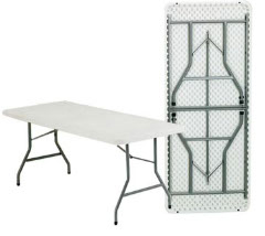 Standard Table $5   • Standard 6ft x 2.5ft • White • Seats 6-8