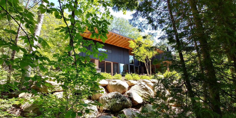 A Secluded Wooded Site Lends Beautiful Isolation to this Modernist Home