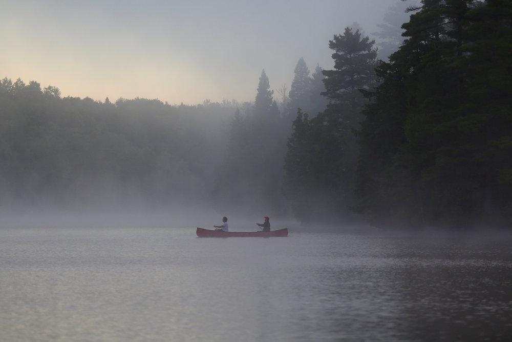 Misty Morning Paddle Across Contau