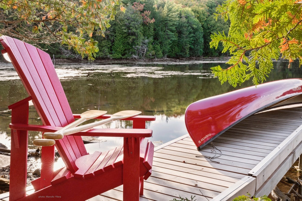 Our Canoe Dock at The Bear Stand