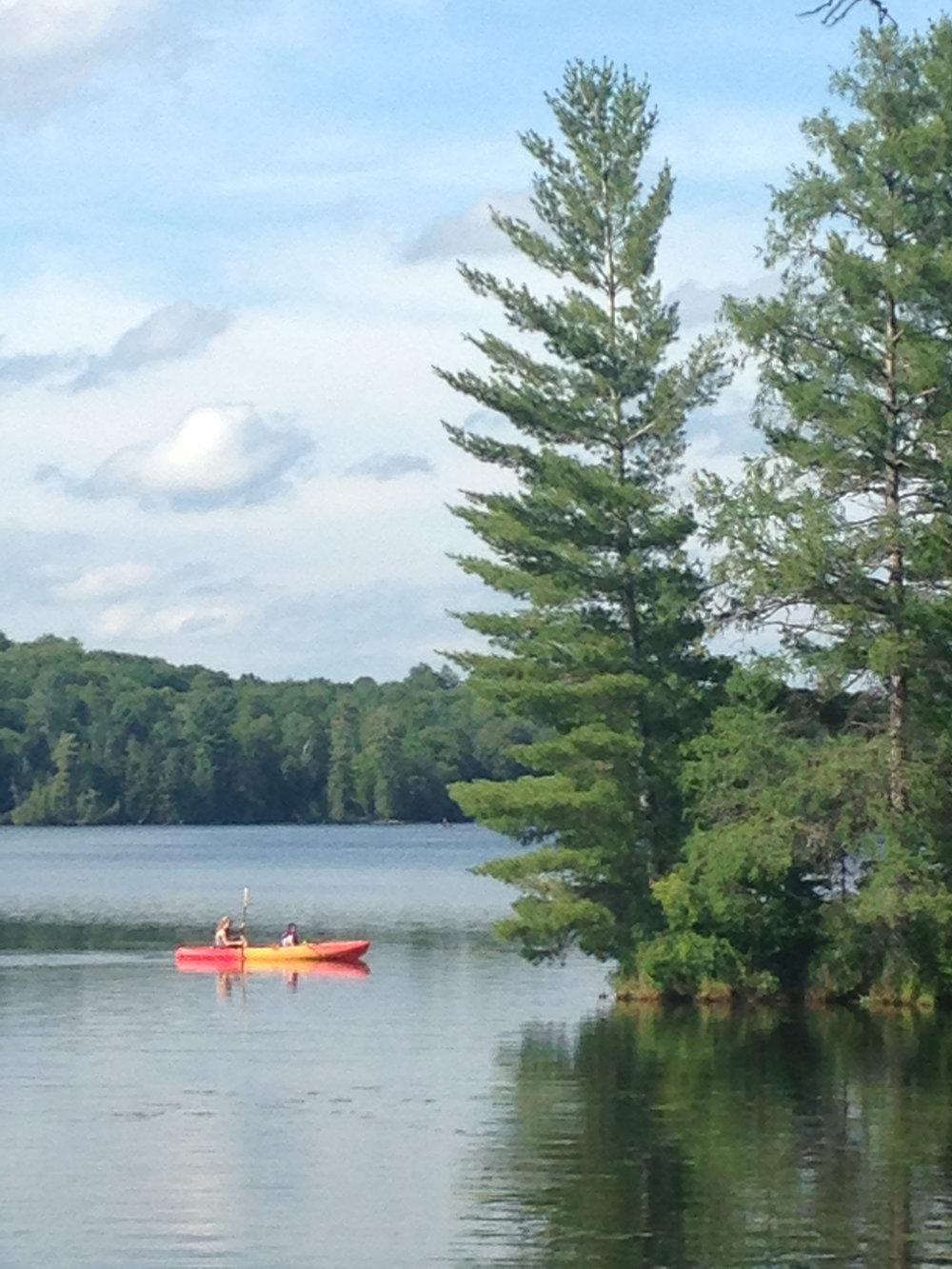 Kayaking on Contau