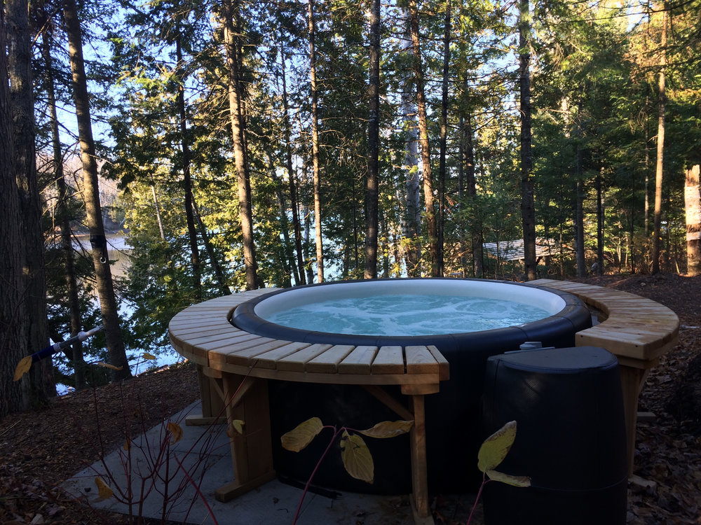 Enjoy a Private Soak in Your Own Lakeside Hot Tub